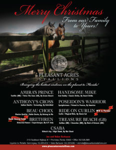 Pleasant Acres Stallions W2W Dec23 ROSTER